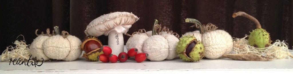 renatik gomba és tök - őszi dekor