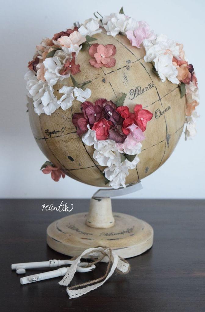virágtérkép - reantik módra