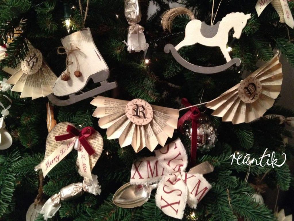 vintage karácsonyi dekorációk