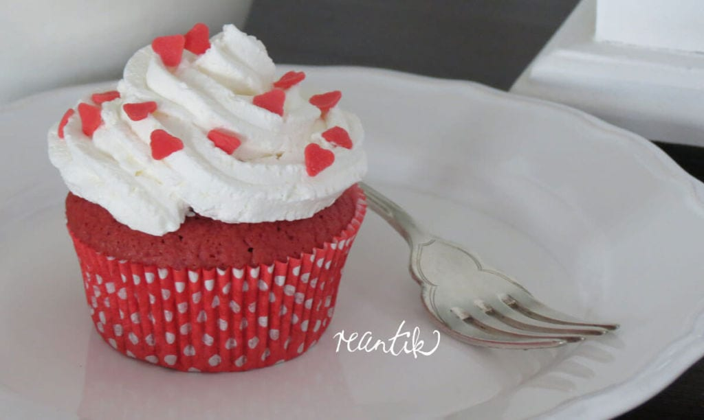 red-velvet muffin - vörösbársony muffin