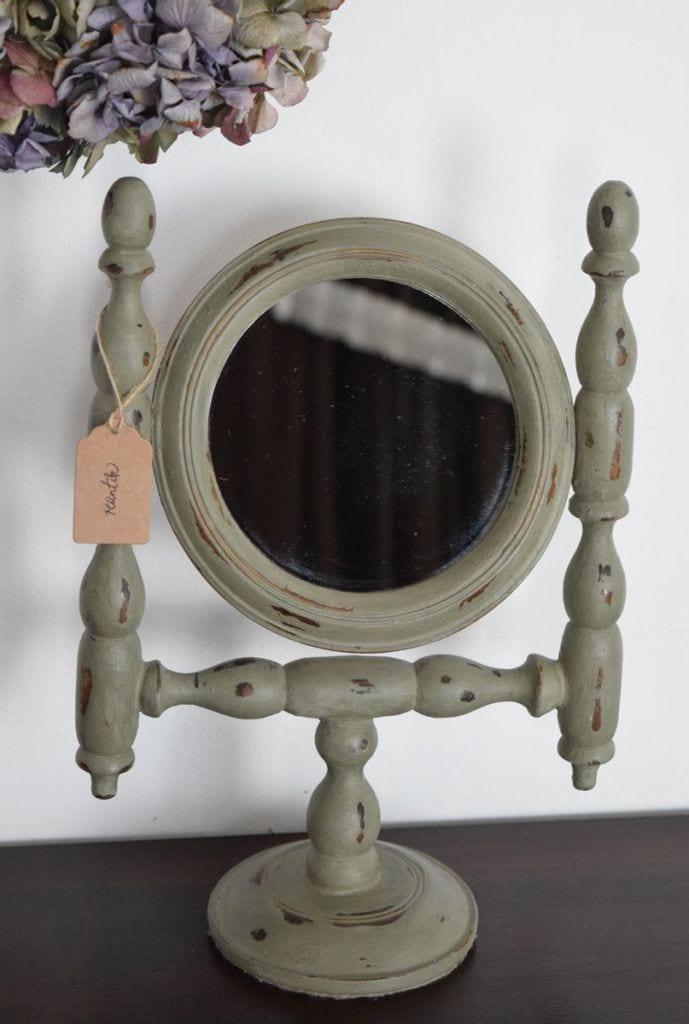 régi tükör antikolva - french grey színben előlről